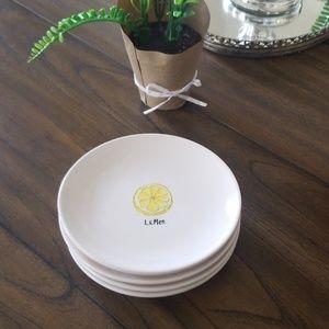 Rae Dunn artisan collection small fruit plates!